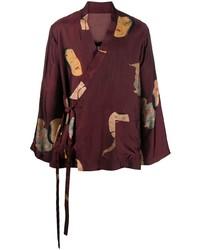 Uma Wang Painterly Print Kimono Jacket