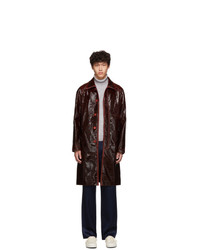 Sies Marjan Burgundy Laquered Raglan Blaine Coat