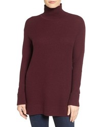 Petite halogen mock turtleneck sweater medium 1248778