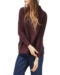 Petite oversize funnel neck sweater medium 1248775