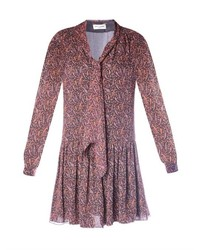 Paisley print chiffon dress medium 257171