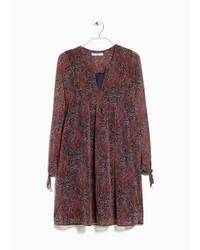 Printed chiffon dress medium 257155