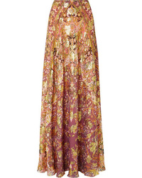 Etro Printed Fil Coup Tte Maxi Skirt