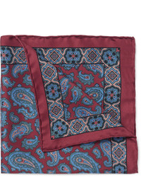 Drakes Drakes Paisley Silk Pocket Square