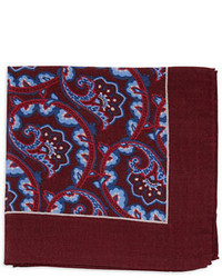 Black Brown 1826 Paisley Pocket Square