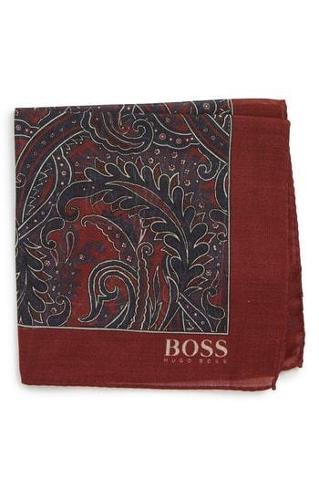 BOSS Paisley Pocket Square