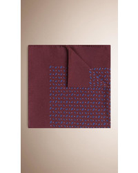 Burberry Paisley Print Silk Pocket Square