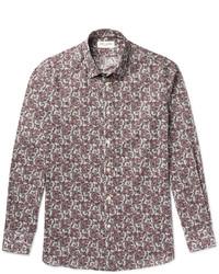 Saint Laurent Slim Fit Paisley Print Cotton Shirt