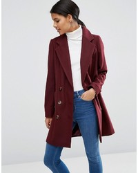 Asos Pea Coat With Seamed Pockets