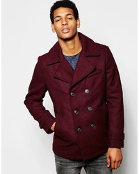 Selected Homme Wool Mix Peacoat