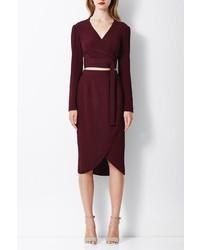 Bec & Bridge Burgundy Wrap Skirt