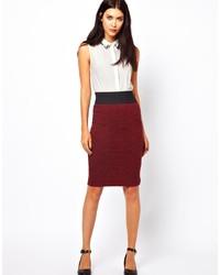 Women's Burgundy Pencil Skirts from Asos | Women's Fashion
