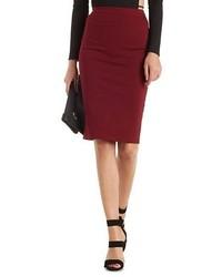 High Waisted Bodycon Pencil Skirt