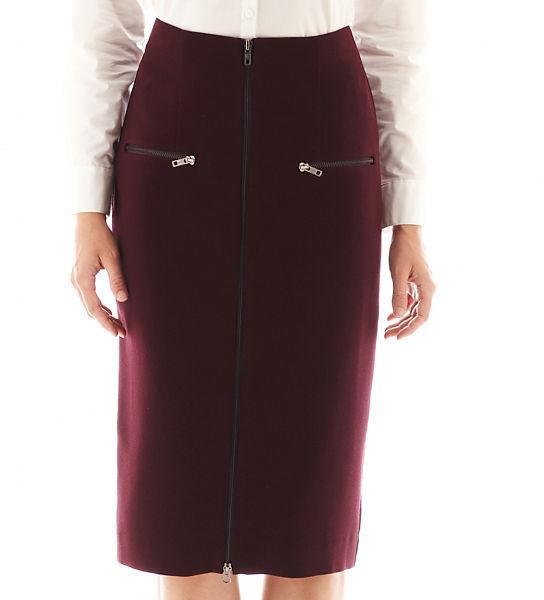 jcpenney Worthington Zip Front High Waist Pencil Skirt Tall ...
