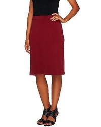 Susan graver essentials liquid knit pull on pencil skirt medium 120407