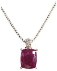 John Hardy Classic Chain Diamond Pendant Necklace