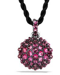 David Yurman 20mm Osetra Faceted Garnet Pendant Necklace 42