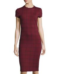 Bishop + Young Plaid Print Bodycon Dress Multi