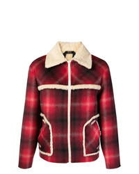 N°21 N21 Checked Shearling Jacket