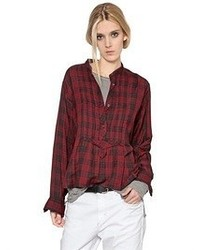 Etoile isabel marant plaid cotton flannel shirt medium 55407