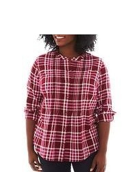 St john s bay st johns bay button front plaid shirt medium 55404