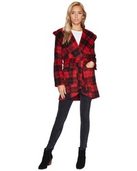 BB Dakota Jack By Stanley Buffalo Plaid Wrap Coat Coat