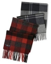 Club room scarf cashmere plaid scarf medium 85812