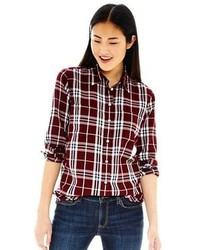 Button front plaid shirt medium 102712