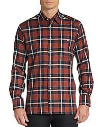 Ike behar plaid cotton sportshirt medium 169745