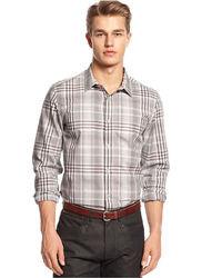 Calvin Klein Long Sleeve Plaid Shirt