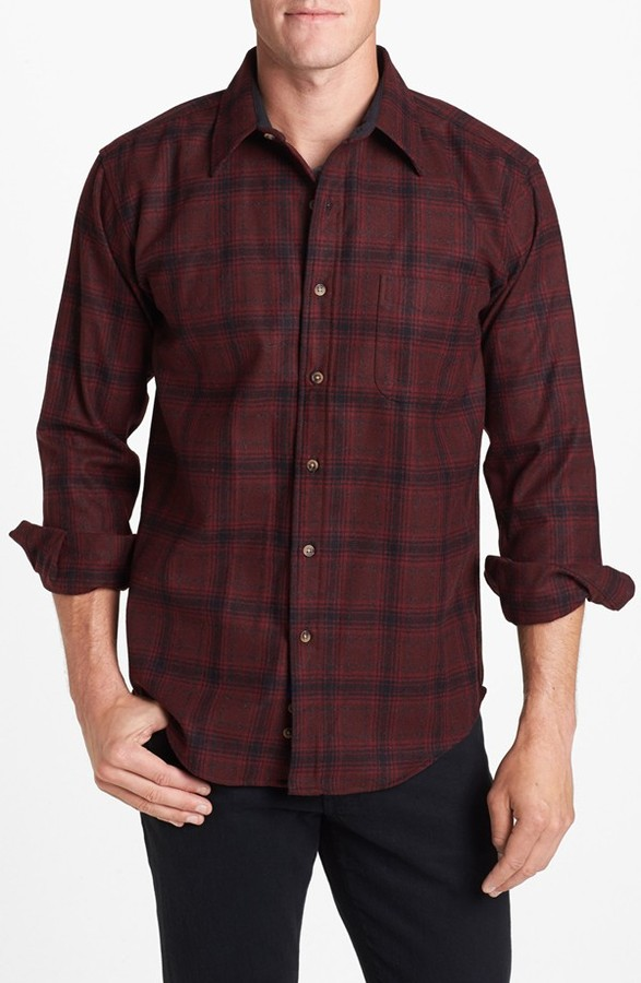 Burgundy Plaid Shirt Mens Artee Shirt