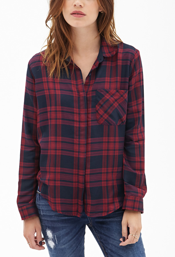 Forever 21 Tartan Plaid Blouse | Where to buy & how to wear