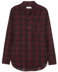 Toile isabel marant ipa plaid cotton twill shirt medium 102714
