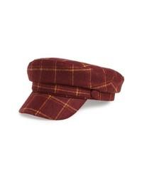 Treasure & Bond Wear Plaid Baker Boy Hat