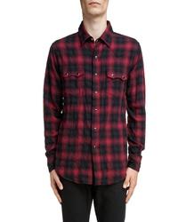 Saint Laurent Classic Fit Check Western Shirt