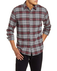 Frame Classic Fit Long Sleeve Cotton Plaid Button Up Shirt