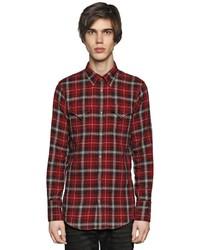 Dsquared2 plaid cotton flannel western shirt medium 591162
