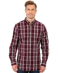 Men's Burgundy Plaid Long Sleeve Shirts from 6pm.com | Men's Fashion