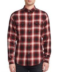 Saint Laurent Nashville Plaid Long Sleeve Shirt