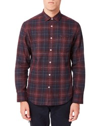 Good Man Brand On Point Slim Fit Plaid Button Up Sport Shirt