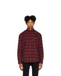 Etro Purple Check Regular Fit Shirt