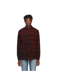 Amiri Red Bleached Flannel Shirt