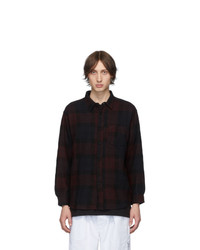 BILLY Red Wool Flannel Check Shirt