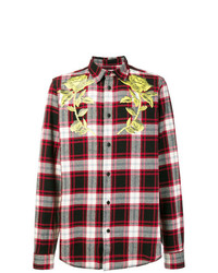 Sold Out Frvr Rose Print Plaid Shirt