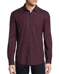 John Varvatos Star Usa Plaid Slim Fit Sport Shirt
