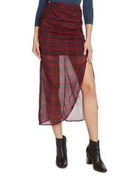 Willow & Clay Plaid Ruched Skirt