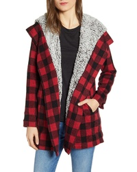 Thread & Supply Miles Faux Shearling Lined Hooded Cardigan