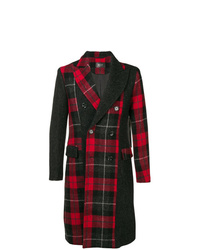 Overcome Plaid Double Breasted Coat