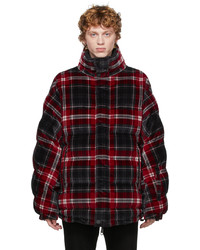 Dolce & Gabbana Black Red Quilted Check Jacket