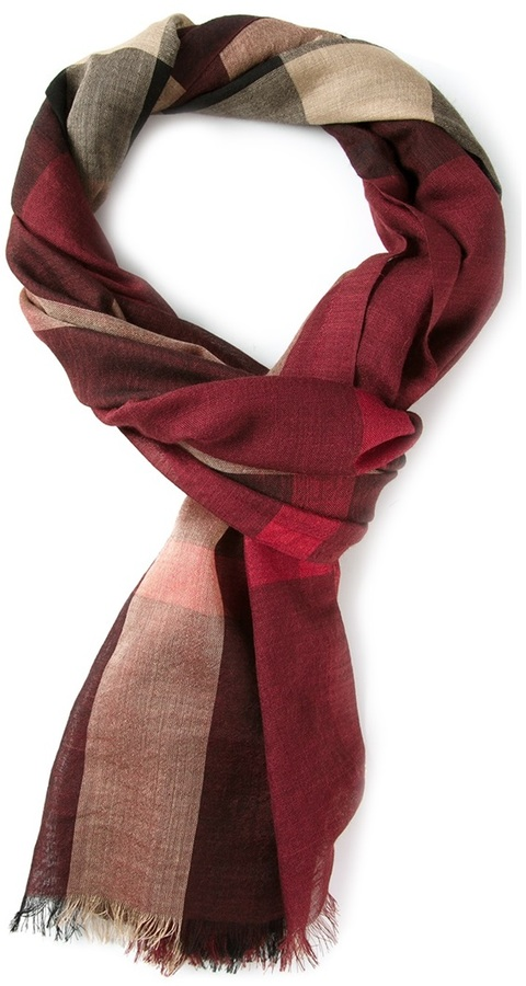 Burberry Claret Check Scarf   Where to buy   how to wear b19be83d0abe